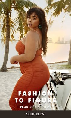 Shop Fashion to Figure for trendy new plus size dresses, tops, bottoms and accessories. Thick Girl Fashion, Trendy Plus Size Fashion, Trendy Plus Size Clothing, Curvy Women Fashion, Cute Fashion, Fashion Outfits, Fashion Skirts, Fashion Boots, Women's Fashion