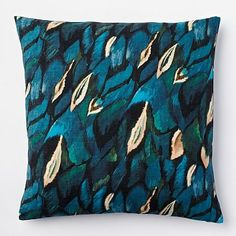 Hey, can't beat the price! :-) Peacock Silk Pillow Cover #westelm