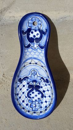 Talavera Spoon Rest by PetrasRusticDoors on Etsy Spoon Rest, Lead Free, Art Pieces, Pottery, Hand Painted, The Originals, Projects, Handmade, Etsy
