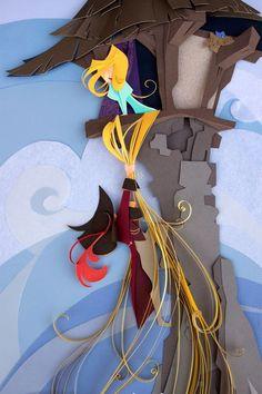 Une artiste recrée des personnages Disney à partir de papier Canson