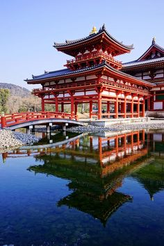 The Phoenix Hall of Byodo-in Temple in Kyoto, Japan - Stock Photo , Japan Architecture, Temple Architecture, Chinese Architecture, Amazing Architecture, Beautiful World, Beautiful Places, Japanese Temple, Japon Illustration, Japanese Landscape