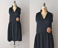 Sola Rosa silk dress / vintage silk 20s dress / by DearGolden, $234.00