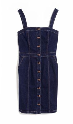 A spring must-have - the denim pinny dress #DorothyPerkins