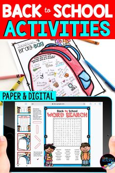 This brag bag worksheet and interactive all about be page are back to school activities in this fun pack of back to school ideas :) Perfect back to school craftivity to get to know your students! Also makes a great back to school bulletin board display for your classroom! Paper and digital Google Slides back to school activities for distance learning or remote learning. Back to School 1st grade, 2nd grade, 3rd grade, 4th grade, 5th grade. Icebreakers for the first day of school or first…