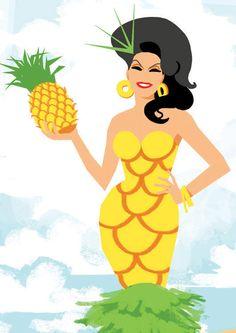 Manila Pineapple Postcard by ChadSellComics on Etsy