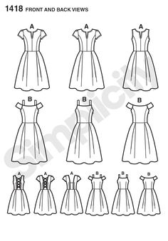 Simplicity Creative Group - Misses' Dress with Bodice Variations.  View B has avery similar feel to the By Hand London Flora dress pattern
