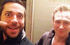 Zachary Levi And Tom Hiddleston. I LOVE this!