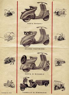 Italian Vespa ad from the late 1940s