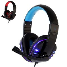 CH1 Stereo Headphone With Deep Bass for PS4 included Mic and LED Light for  PC Game 9199922fe591