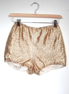 Vintage 1950s Shorts // 50s 60s Metallic Gold Lurex Tinsel High Waist Mini Shorts // Burlesque Pin Up // DIVINE by TrueValueVintage on Etsy
