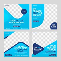 Gesundheitswesen Social-Media-Banner-Post - New Ideas Social Media Detox, Social Media Ad, Social Media Branding, Social Media Banner, Social Media Template, Icon Design, Ad Design, Logo Design, Graphic Design