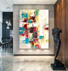 Extra Large Original Painting on Canvas , Abstract Painting Large Contemporary Colorful Artwork ,Modern Wall Decor Handmade Wall Art Large Artwork, Large Canvas Art, Extra Large Wall Art, Colorful Artwork, Abstract Canvas Art, Acrylic Art, Abstract Paintings, Oil Paintings, Art Texture