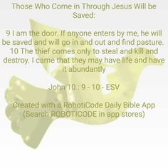 "I found this using ""Words of Jesus Each Day"" for Android, iOS and Kindle Fire! http://www.roboticode.co.uk"