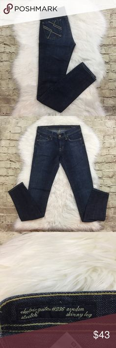 Citizens of Humanity Skinny Jeans COH electric guitar avedon skinny jeans in Ibiza • they're  in good preowned condition only shows some fraying on the bottom but no other flaws Citizens of Humanity Jeans Skinny