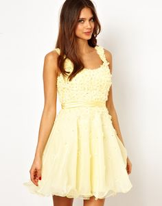 Forever Unique | Forever Unique Applique Prom Dress with Scoop Back at ASOS