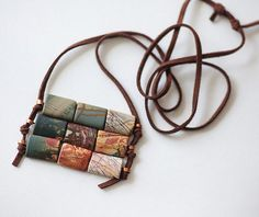 Jasper Picasso on suede casual necklace handmade Israel by LenaMer, $24.00