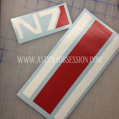 Masseffect N7 decal along with a custom stripe requested from a client. Decals are not printed but actually multiple decals made into one.