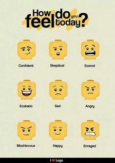 Legohead facial expressions