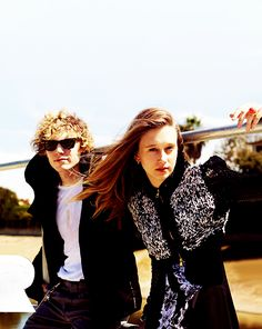 Evan Peters and Taissa Farmiga - Tate and Violet from American Horror Story.