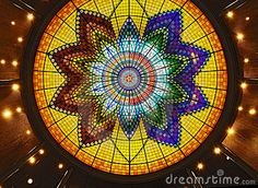 art deco stained glass roof or ceiling