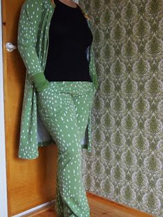 Pants and jacket made by me. Fabric PaaPii design