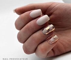 Best Nail Art - 61 Best Nail Art Designs for 2019 Today we have the Best Nail Art Designs for We have found 61 close to perfection nails that you will love dearly. Nail Art Diy, Easy Nail Art, Milky Nails, White Acrylic Nails, White Gold Nails, White Nail Art, White Polish, Nagellack Trends, Best Nail Art Designs