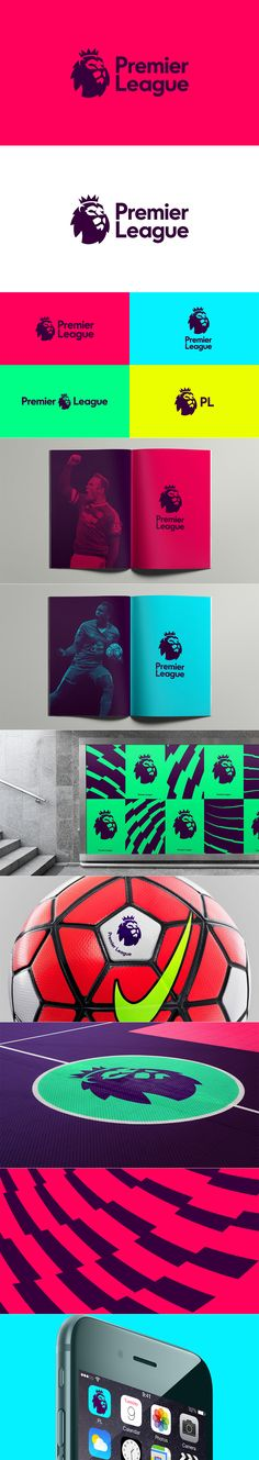 The new Premier League branding by DesignStudio and Robin Consulting Mais Logo Branding, Event Branding, Corporate Id, Corporate Design, Brand Identity Design, Graphic Design Branding, Web Design, Marca Personal, Design Poster