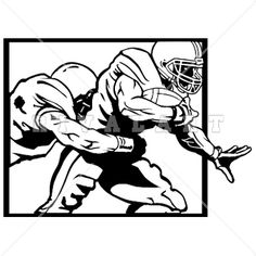 Sports Clipart Image of Black White Sacked Tackled Tackling Quarterback Football Players Football Clip Art, Football Banner, Football Posters, Poster Ideas, Clipart Images, Psych, Nfl, Black And White, Drawings