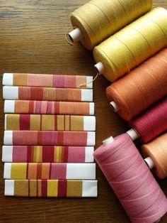 Color Swatch for weaving. Inkle Weaving, Inkle Loom, Card Weaving, Tablet Weaving, Types Of Weaving, Weaving Tools, Weaving Projects, Weaving Textiles, Weaving Patterns