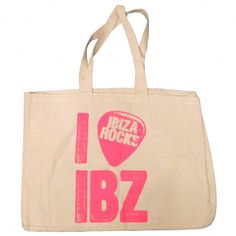 Ibiza Rocks: Large Heavy Duty Canvas Tote Beach Bag #ibiza #ibizabag