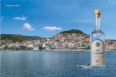 Ouzo of Plomari-greece