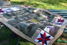Military uniform memory quilt - DONE!!