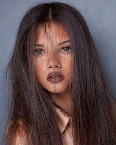 Medium to darker skin tones can pull off a brownish purple hue.