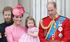 Princess Charlotte looked ultra-sweet in a pretty dress at Trooping the Colour parade on Saturday. The young royal was joined by Duke & Duchess Cambridge Duchess Kate, Duke And Duchess, Duchess Of Cambridge, Royal Family Pictures, Harry Wedding, Prince William And Catherine, Royal Life, Royal Babies, Princess Kate