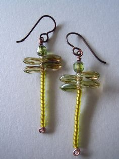 Divine Dragonfly Czech Glass Hypoallergenic Earrings -Free Shipping-     http://www.etsy.com/listing/92923044/divine-dragonfly-czech-glass