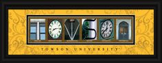 Towson University (Towson, MD) Officially Licensed Framed Letter Art