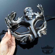Mens Masquerade Mask Masquerade Mask Men Skull by 4everstore