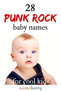 Are you punk enough? From Iggy to Velvet, we're loving this list of edgy punk rock baby names, inspired by some of the greatest rockers of all time. If cool, unique baby names are your thing, you'll find some iconic options here! J Baby Names, Twin Boy Names, List Of Girls Names, Unique Baby Boy Names, Edgy Boy Names, Classic Boy Names, Punk Baby Girl, Punk Rock Baby, Different Boy Names