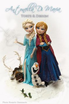 Hi! I know, meanwhile there are thousands of Frozen topper and cake ideas around the internet and maybe you find it boring to see them again and again. But I'm proud to have my own one in my house: my children love the movie and , honestly, me...