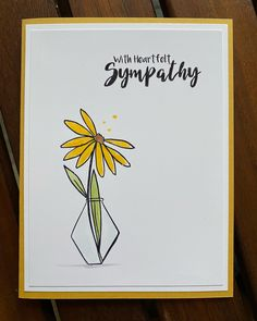 Another sympathy card today. Happy Tuesday, Sympathy Cards, Handmade Cards, Art Ideas, February, Stamps, Triangle, Encouragement, Doodles