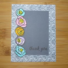 There's a new challenge at Atlantic Hearts Sketch Challenge this week Here's my card I stamped a bunch of the flowers using Alt...