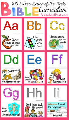 36 Weeks of Free Preschool Lessons! This Free Letter of the Week Bible Curriculum provides children with a new letter and a new Bible truth every Week! Use with your Sunday School Program or as Bible Supplement to your current Letter of the Week Program. Tons of Free Printables, Games, Lesson Planning Sheets and More!  http://www.preschoolpost.com