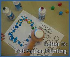 Letter D Alphabet Activities Dot Marker Coloring Pages