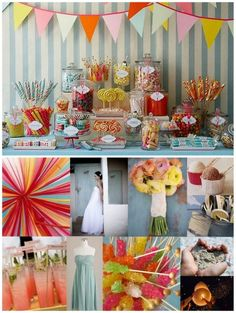A candy/dessert bar for a wedding!