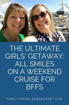 Plan the perfect getaway with a cruise for friends. We did the research for you and came up with a list of nine tips to plan the perfect girlfriends' getaway! Packing For A Cruise, Cruise Tips, Cruise Travel, Cruise Vacation, Vacations, Bahamas Cruise, Cruise Port, Caribbean Cruise, Girlfriends Getaway
