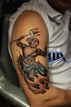 Image result for poseidon tattoo designs                                                                                                                                                                                 Mais
