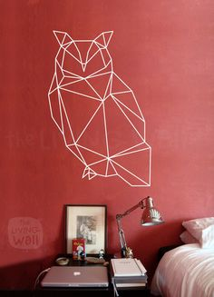 Geometric Owl Wall Decal Geometric Animals Decor Owl by LivingWall