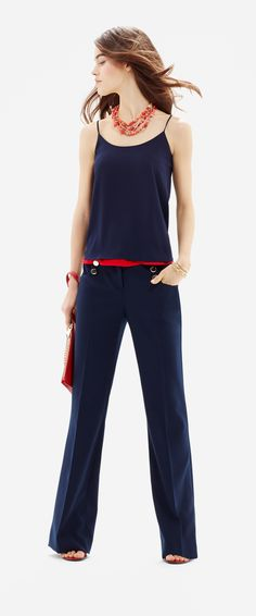 24fa6334d1a2 Nautical High Waist Classic Flare Pants- As seen in the May 2015 issue of  Glamour