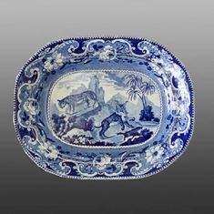 Printed British Pottery & Porcelain | Platter