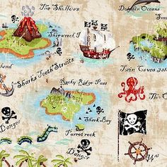 This would be perfect for a pirate theme quilt